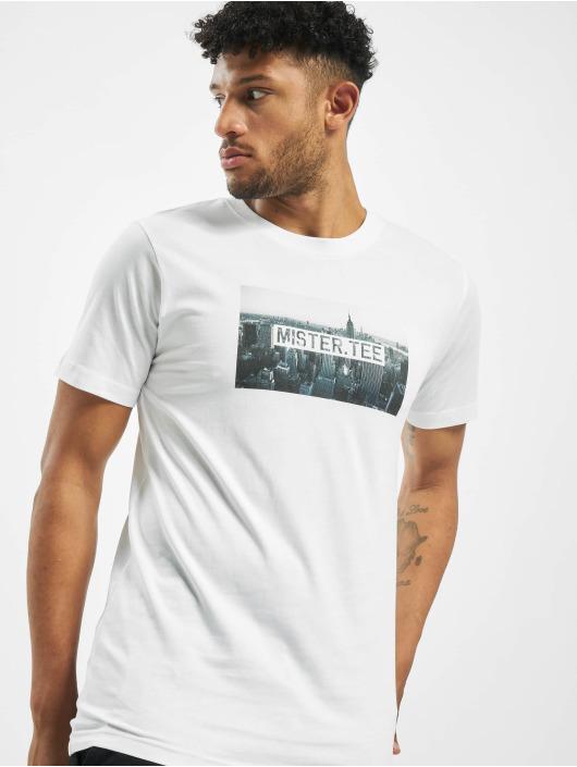 Mister Tee T-skjorter Skyline hvit