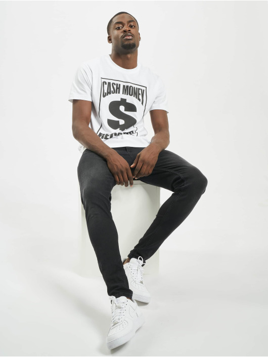 Mister Tee T-skjorter Cash Money Records hvit