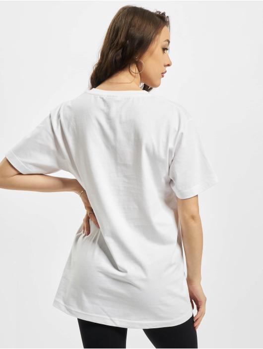Mister Tee T-skjorter Ladies Fake Unicorn hvit