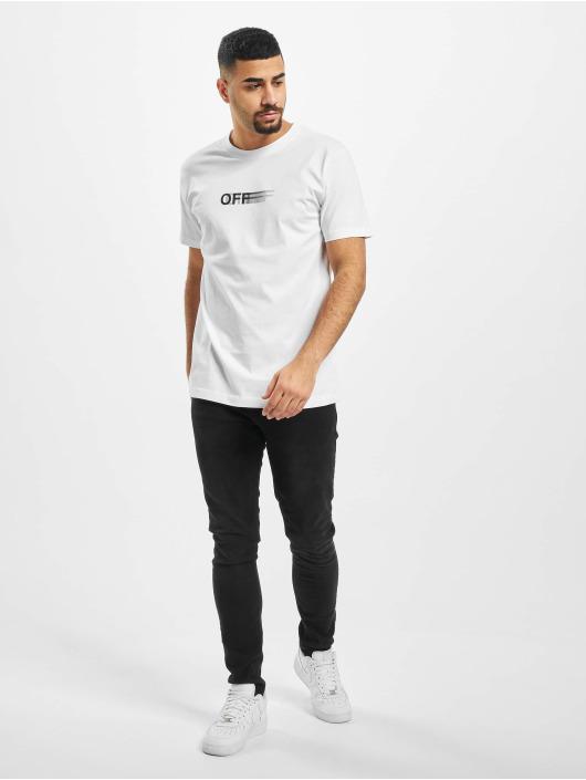 Mister Tee T-skjorter Blurry Off hvit