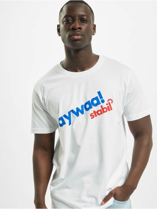 Mister Tee T-skjorter Aywaa hvit