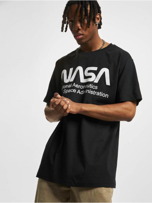 Mister Tee T-skjorter Nasa Wormlogo svart