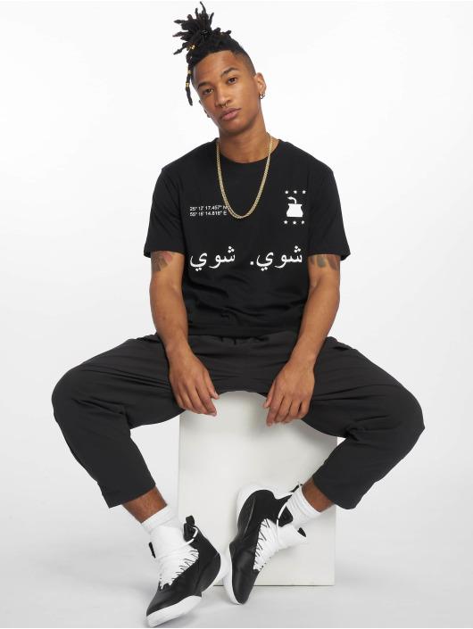 Mister Tee T-skjorter Shui Shui svart