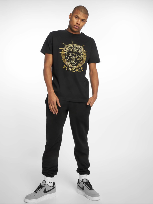 Mister Tee T-skjorter Korsace svart