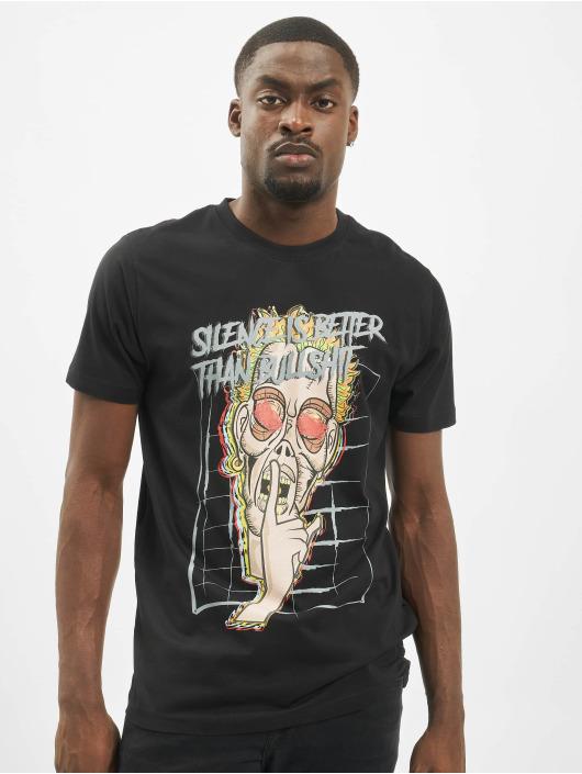 Mister Tee T-skjorter Silence svart