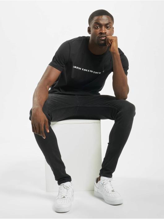 Mister Tee T-skjorter Crew Love Is True Love svart
