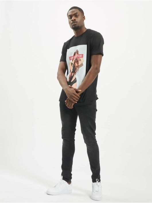 Mister Tee T-skjorter Drop It svart