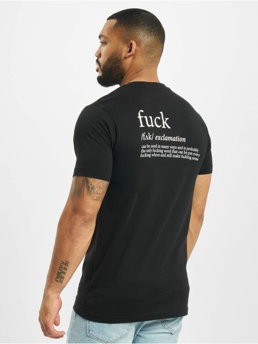 Mister Tee T-skjorter Fck svart
