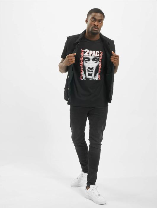 Mister Tee T-skjorter Tupac Boxed In svart