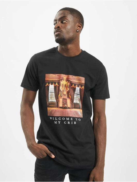 Mister Tee T-skjorter Welcome To my Crib svart