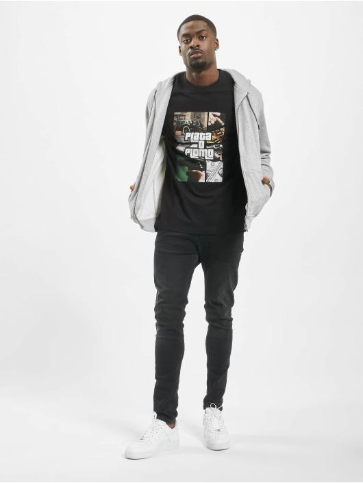 Mister Tee T-skjorter Plata svart