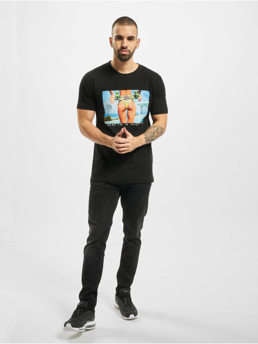 Mister Tee T-skjorter God Is A Woman svart