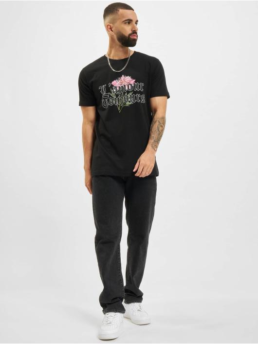 Mister Tee T-skjorter Mister L´Amour Toujous svart