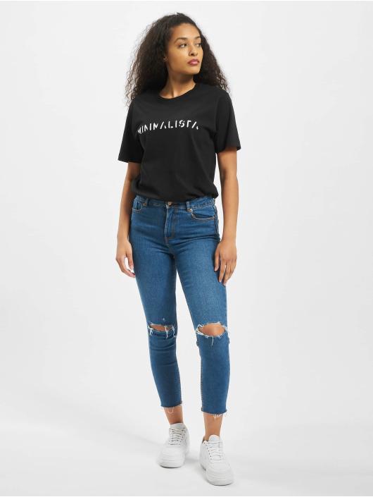 Mister Tee T-skjorter Ladies Minimalista svart