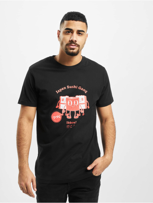 Mister Tee T-skjorter Japanese Sushi svart