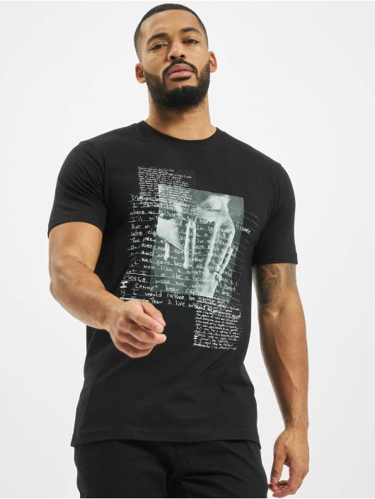 Mister Tee T-skjorter Tupac Lyrics svart