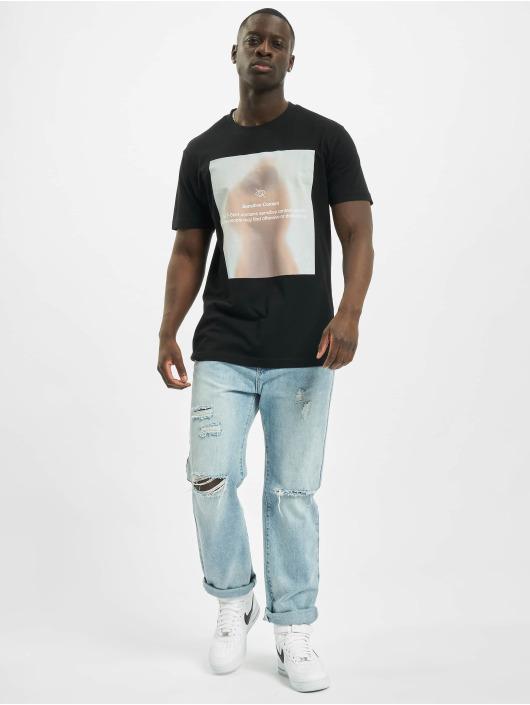 Mister Tee T-skjorter Sensitive Content svart