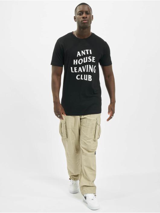 Mister Tee T-skjorter Anti House Leaving svart