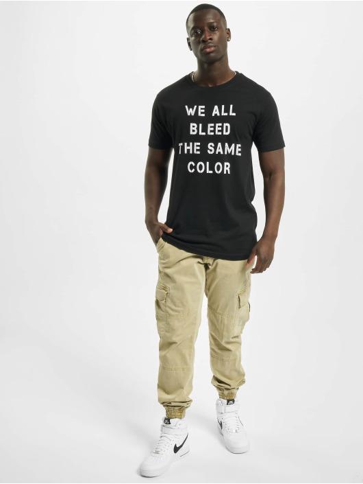 Mister Tee T-skjorter Blood Color svart