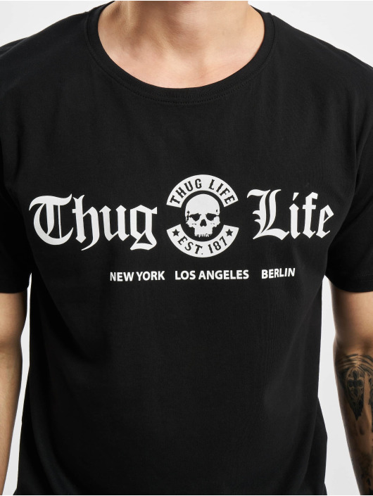 Mister Tee Tall Tees Thug Life Cities èierna