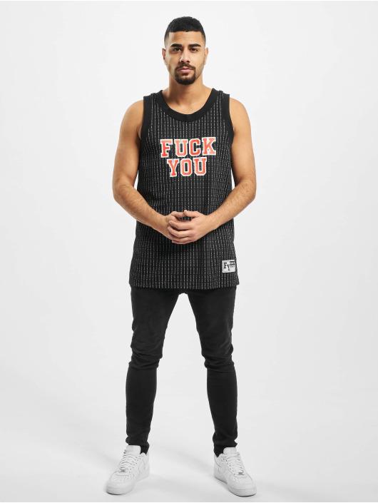 Mister Tee Tank Tops Fuckyou Basketball èierna