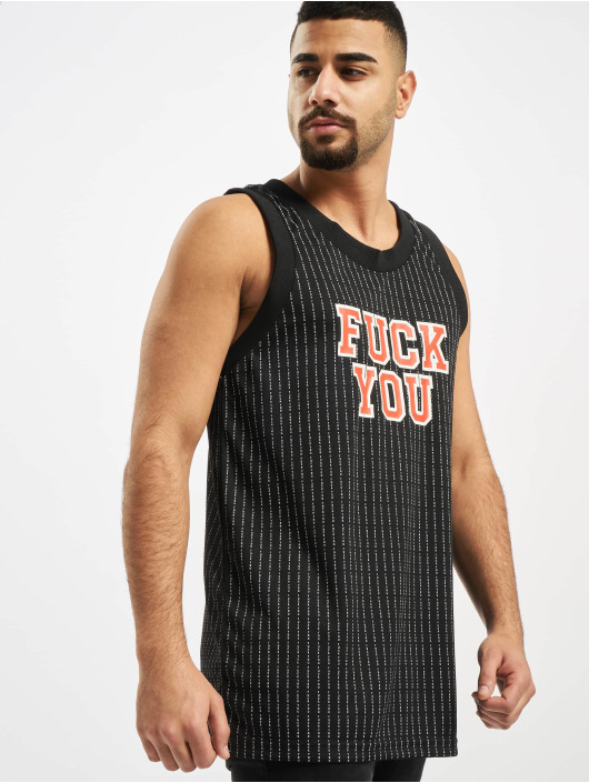 Mister Tee Tank Tops Fuckyou Basketball black