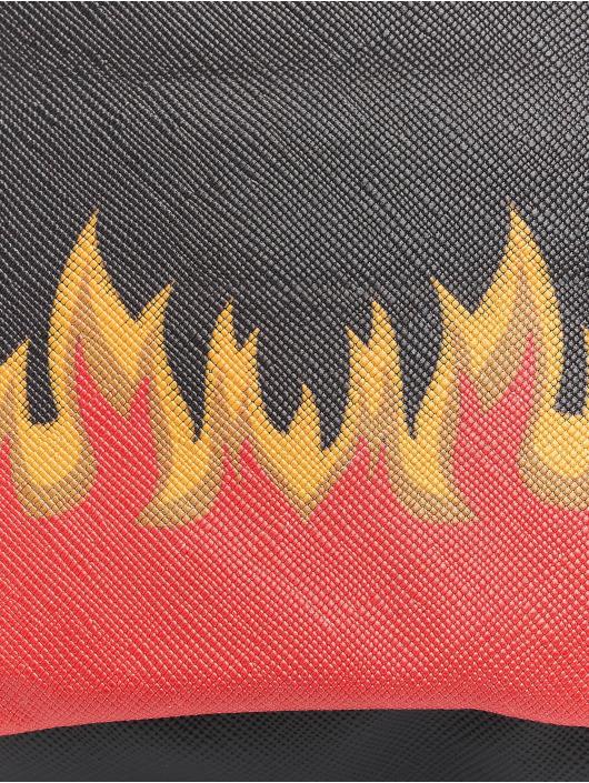 Mister Tee Tasche Flame Print Leather Imitation schwarz