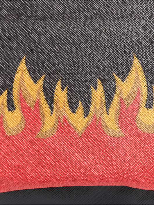Mister Tee Torby Flame Print Leather Imitation czarny