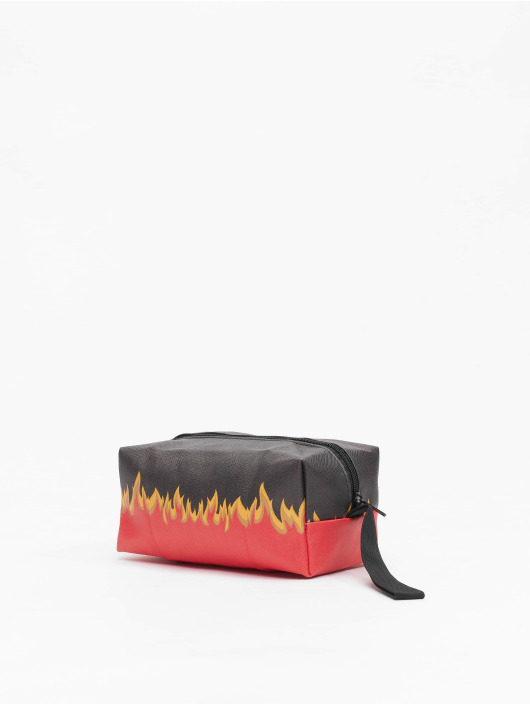 Mister Tee Torby Flame Print Cosmetic Pouch czarny