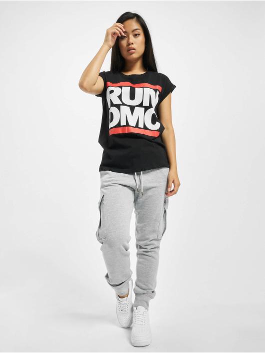 Mister Tee Tričká Run DMC Logo èierna