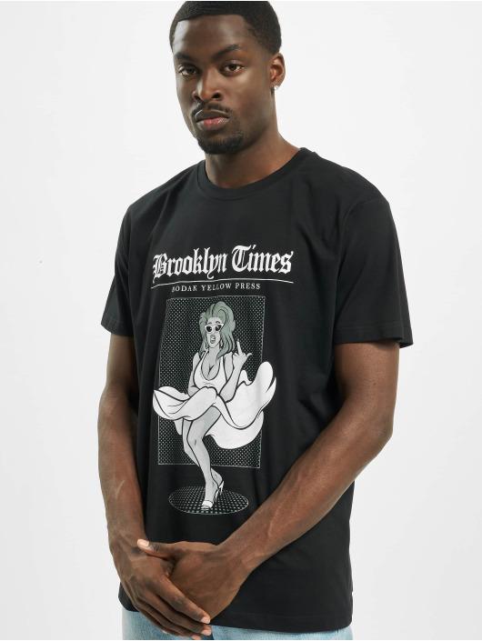 Mister Tee Tričká Brooklyn Times èierna