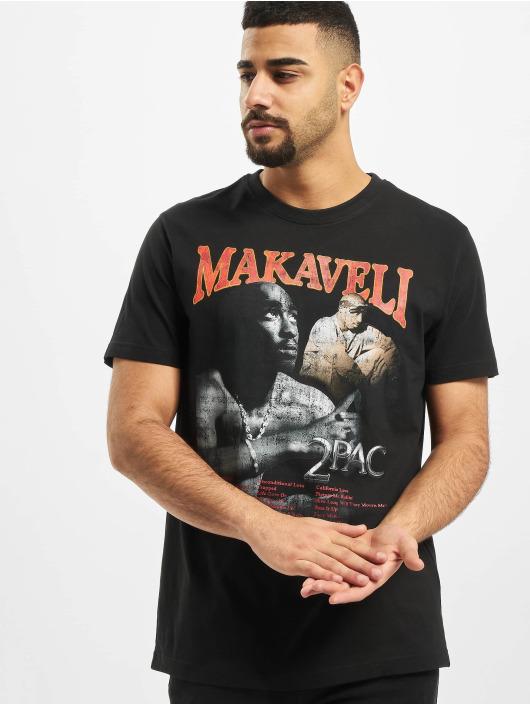 Mister Tee Tričká Tupac Makaveli èierna