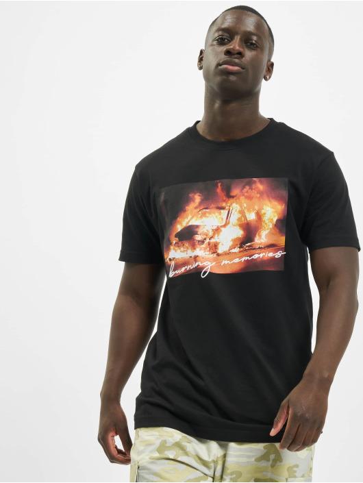 Mister Tee Tričká Burning Car èierna