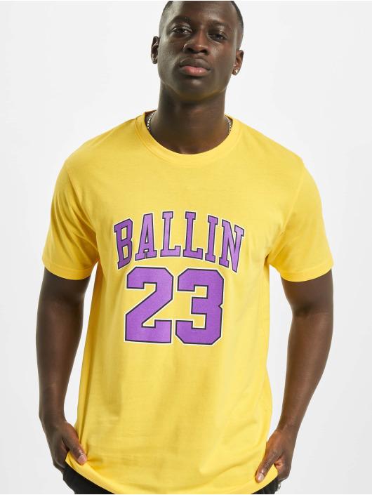 Mister Tee Tričká Ballin 23 žltá