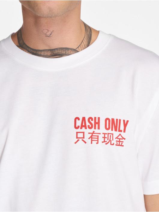 Mister Tee Tričká Cash Only biela