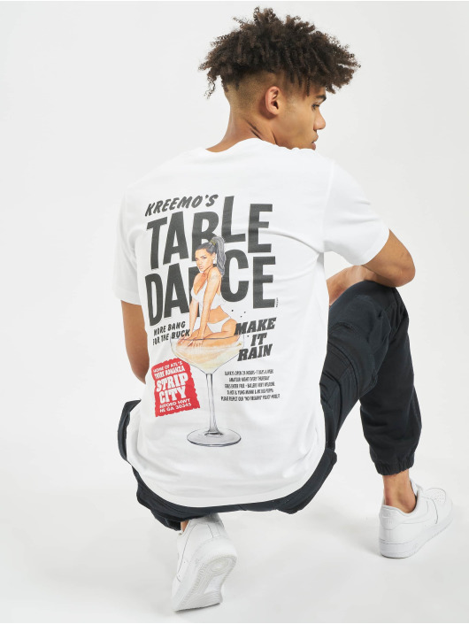 Mister Tee Tričká Tabledance biela
