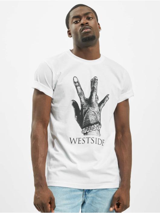 Mister Tee Tričká Westside Connection 2.0 biela