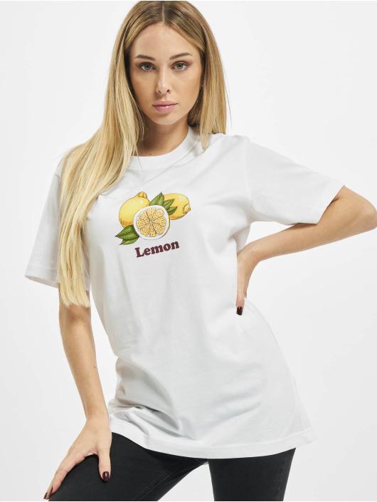 Mister Tee Tričká Ladies Lemon biela