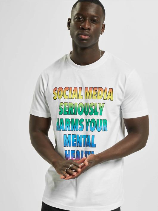 Mister Tee Tričká Social Media biela