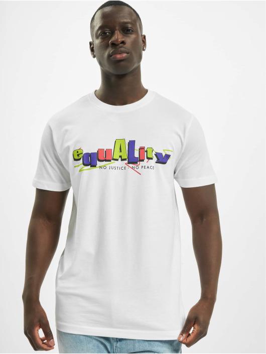Mister Tee Tričká Colored Equality biela