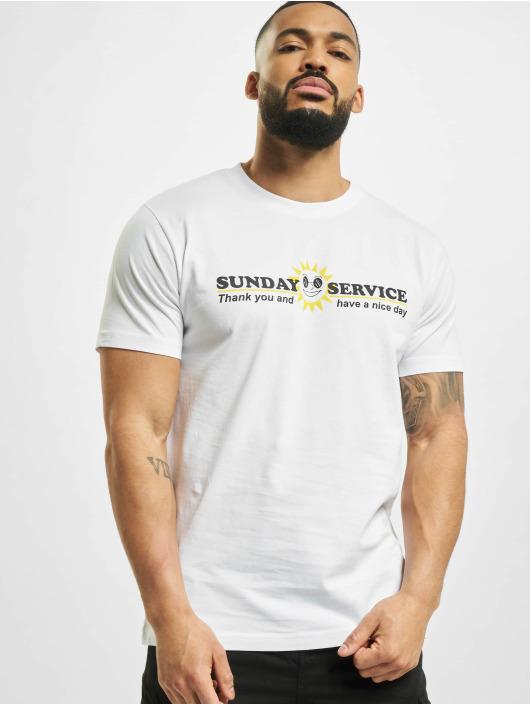 Mister Tee Tričká Sunday Service biela