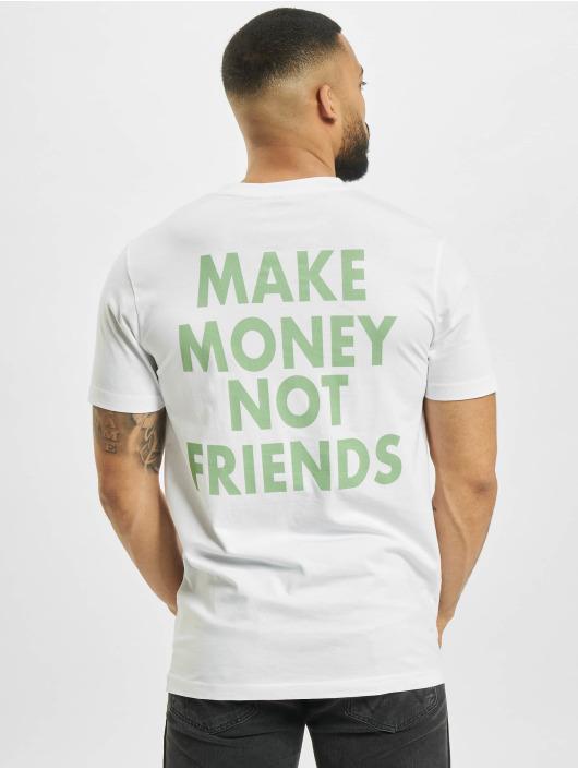 Mister Tee Tričká Make Money Not Friends biela