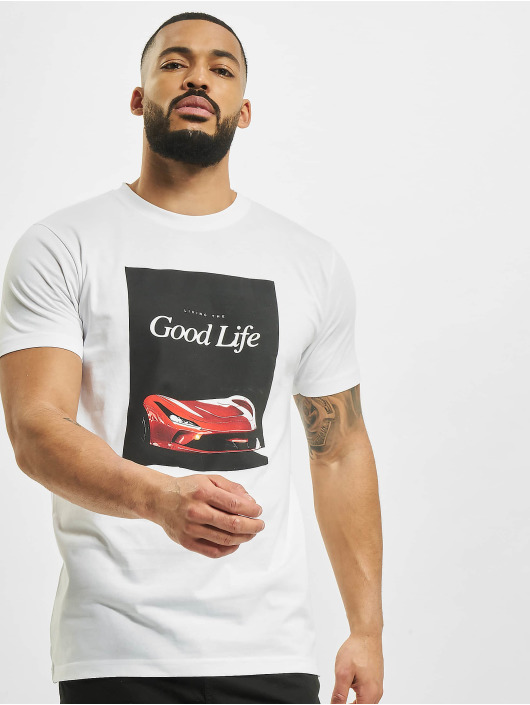 Mister Tee Tričká Good Life biela