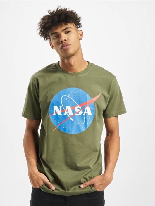 Mister Tee Tričká NASA olivová