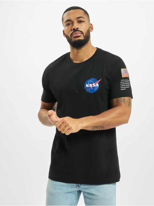 Mister Tee Trika NASA Insignia Logo Flag čern