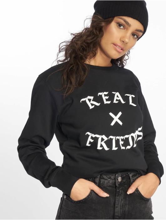 Mister Tee trui Real Friends zwart
