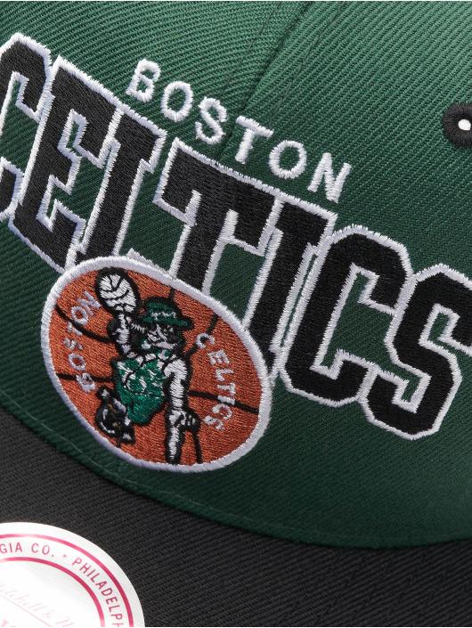 Mitchell & Ness Кепка с застёжкой Boston Celtics HWC Team Arch зеленый