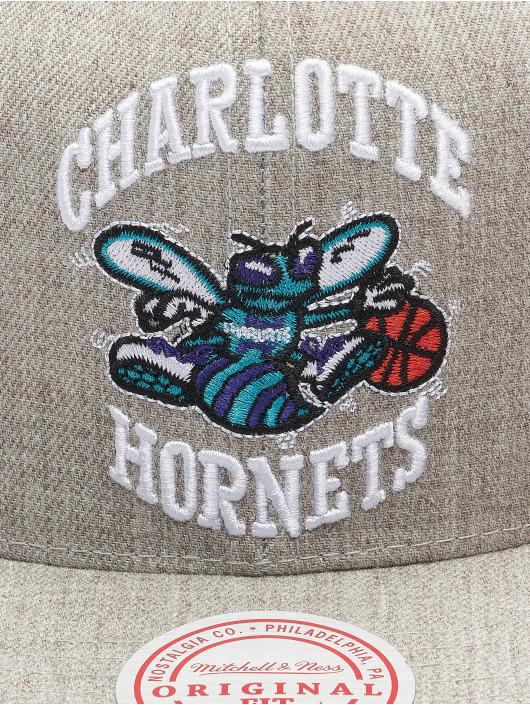 Mitchell & Ness Кепка с застёжкой Team Heather HWC Charlotte Hornets серый