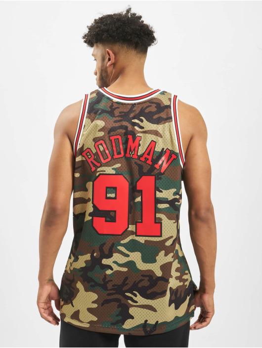 Mitchell & Ness camiseta de fútbol NBA Chicago Bulls Swingman D. Rodman camuflaje
