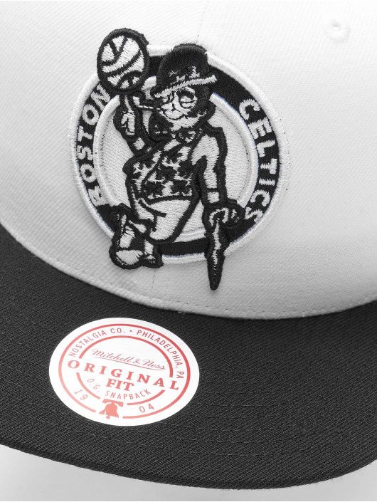 Mitchell & Ness Casquette Snapback & Strapback Front Post Bosten Celtics blanc